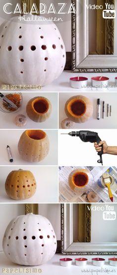 Cómo hacer calabaza de Halloween geométrica | http://papelisimo.es/como-hacer-calabaza-de-halloween-geometrica/