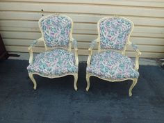 50924 Pair French Country Bergere  Decorator Armchair s Chairs Chair s #FrenchFrenchCountry