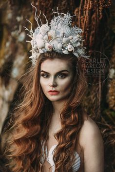 mermaid shell crown - Google Search