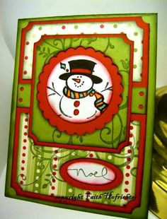 Frosty SU set - Christmas Card - LOVE the bright Green