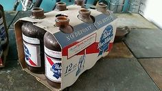 vintage pabst blue ribbon pbr beer stubby bottle six pack  | Collectibles, Breweriana, Beer, Advertising-Print | eBay!