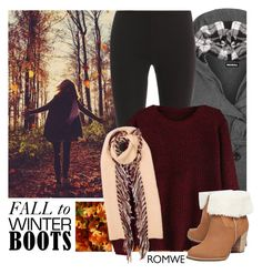 """Fall to Winter Boots"" by pianogirlzoe ❤ liked on Polyvore featuring WearAll, GE, Splendid, UGG Australia and Burberry"