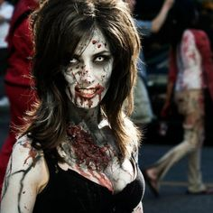 Walking Dead Zombie Makeup...makes me wanna do zombie make up too