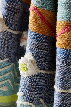 Keep cozy all year long with unique throws and bohemian blankets in colors, textures and patterns aplenty. Shop Anthropologie for your bedroom today. Anthropologie Home, Weaving Projects, Bed Throws, Throw Blankets, Home Textile, Embroidery, Pillows, Knitting, Pattern