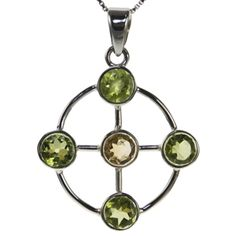 Four Directions Citrine and Peridot Pendant