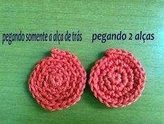 Modernizando o crochê: Dica: diferença entre trabalhar com alça de trás o...