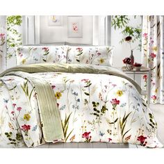Dreams & Drapes is a trusted quality UK bedding brand, presenting the latest trends and styles in bedroom furnishings. A hand painted delicate floral meadow with a fresh mix of bright spring colours, printed onto crisp easy care, polycotton white fabr Duvet Sets, Bedroom Furnishings, King Duvet Cover, Duvet, Bed, Super King Duvet Covers, Duvet Cover Sets, Vibrant Bedding, Duvet Covers