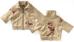 Tea Collection Puebla Jacket for Girls Modern Mexico