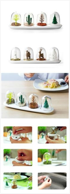 Too #cute ==> Seasoning shakers are perfect for displaying your favorite food seasonings.