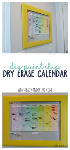 With a thrift store frame and free paint chips from the hardware store, you can create a dry erase calendar you'll be happy to display on your wall.