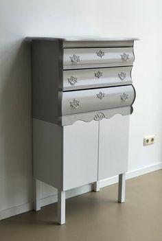 Kasten — OUD NOW! Old Cabinets, Dresser, Storage, Furniture, Design, Home Decor, Purse Storage, Powder Room, Decoration Home