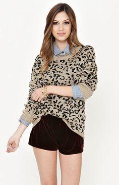 leopard sweater on Wanelo Leopard Sweater cf6dd8e97