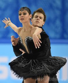 Russia's Nikita Katsalapov and Russia's Elena Ilinykh perform in the Figure Skating Ice Dance Free Dance at the Iceberg Skating Palace during the Sochi Winter Olympics on February Get premium, high resolution news photos at Getty Images Figure Skating Outfits, Figure Skating Dresses, Figure Ice Skates, Black Figure, Ice Skaters, Ice Dance, Winter Olympics, Roller Skating, Olympic Games