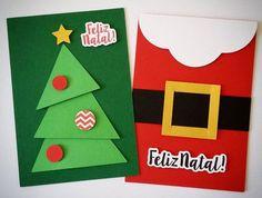 Cart o de Natal para fazer com as crian as o as Christmas Cards Handmade Kids, Christmas Card Crafts, Christmas Cards To Make, Kids Christmas, Holiday Crafts, Christmas Decorations, Handmade Cards, Kids Cards, Blog Moda