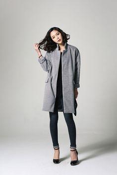 Flap Pocket Straight Coat
