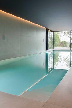 Indoor Pools, Indoor Swimming, Swimming Pools, Basement Pool, Modern Basement, Casas Country, Spa Lighting, Zen Garden Design, Modern Pools