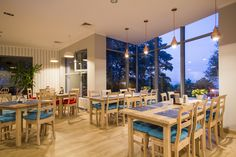 Sailor theme, restaurant, sea view, glass window, rustic, modern, fish reaturant