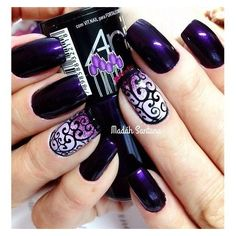 10 Easy Nail Art Ideas Ready in 5 minutes ❤ liked on Polyvore featuring beauty products, nail care and nail treatments