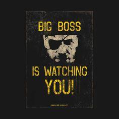 Bilderesultat for big boss is watching you Metal Gear Solid, Boss