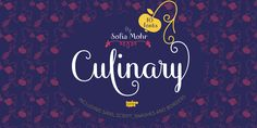 Culinary - Webfont & Desktop font « MyFonts