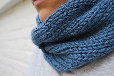 free easy knitted scarf/cowl patterns