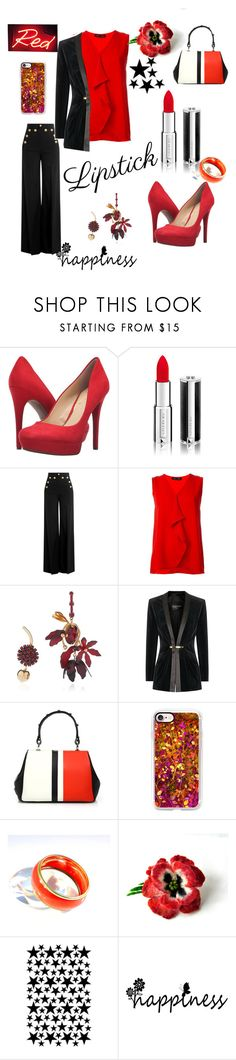 """""""#lipstick"""" by aazraa ❤ liked on Polyvore featuring beauty, Jessica Simpson, Givenchy, RED Valentino, Proenza Schouler, Marni, Balmain, Prada, Casetify and WALL"""