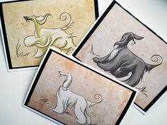 AFGHAN HOUND Greeting Cards by SUPATOON on Etsy, $18.00