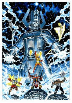 Comolo - Galactus and his Heralds Comic Art