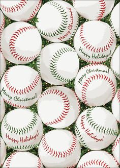 Baseball Stitches Christmas Cards Very cute for a baseball family ...