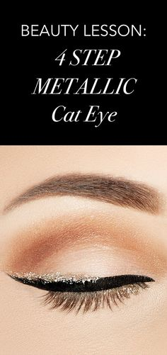 4 easy steps to the perfect metallic cat eye.