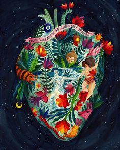 """""""Tudo vale a pena se a alma não é pequena"""". Pura inspiração as ilustrações de @aitch.ro. / Illustration  by incredible artist @aitch.ro. #ilustracao #illustration #aitch #followthecolours by ftc_insta"""