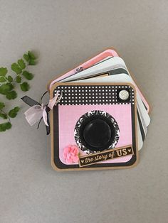 Love Mini Photo Album  Camera Shaped  Valentines by CallMeCraftie