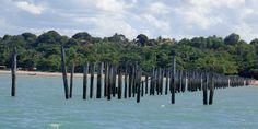 Pier no centro de Cumuruxatiba, Sul da Bahia