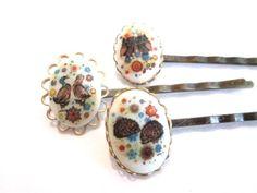 Retro Woodland Hair Clips Ducks Owls Accessories by PlumePretty, $21.00