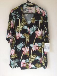 d4792c94 NEW Magnum PI Paradise Found Aloha Hawaiian Shirt Women's 2XL Men's sz L  Blue Rayon Reyn
