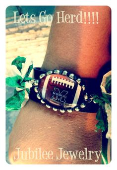 Licensed Marshall University Football Soldered by jubileejewelry1, $36.00