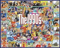 The Nineties Jigsaw puzzle by White Mountain Puzzles.  Travel back to the 1990's while you build this great puzzle by Jim Mellett.