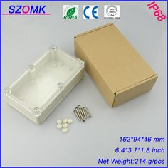 1 piece waterproof plastic project box with transparent cover  161.5*94*46mm electronics plastic enclosure