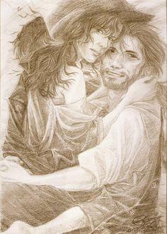 Flying Love - Althea and Brashen by Andromeda-Aries.deviantart.com on @deviantART