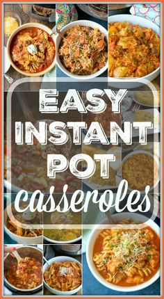 If you're looking for some easy Instant Pot casseroles we have a bunch! Kid approved casserole dinners cooked in your pressure cooker in no time at all and no need to turn your oven on during the hot summer months! If comfort food is your style, in less than 20 minutes you can have meals ready that everyone will love. #instantpot #pressurecooker #casseroles #casserole #groundbeef #cheesy #easy via @thetypicalmom