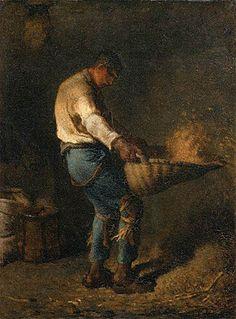 El aventador de grano, 1848 -  Jean-François Millet