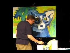 george rodrigue blue dog demo - saw him at the Acadiana Center for the Arts in Lafayette, LA - AWESOME