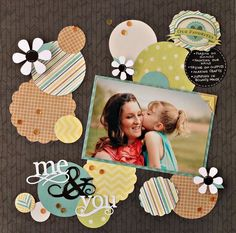 Scrapbook layout made with We R Memory Keepers For the Record collection