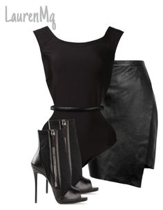 """Untitled #241"" by laurenmq ❤ liked on Polyvore featuring Peridot London, Fleur du Mal, Giuseppe Zanotti, women's clothing, women, female, woman, misses, juniors and black"