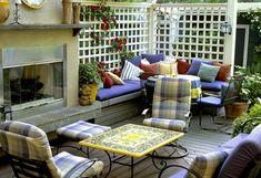 Beautiful Deck - I think it's the white lattice that I love.