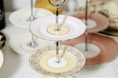 Make your own vintage cake stand using vintage china plates. We also hire vintage china, props and accessories. We offer a bespoke afternoon tea menu and can help style and dress your venue. Based in Derbyshire and covering Derby, Sheffield, Nottingham, Leicester and throughout the Midlands « Darby and Joan