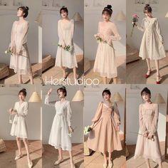 Ulzzang Fashion, Kpop Fashion Outfits, Asian Fashion, Modest Fashion, Fashion Dresses, Cute Skirt Outfits, Pretty Outfits, Cute Dresses, Beautiful Dresses