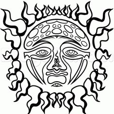 sublime sun black and grey  | How to Draw Sublime Sun Logo, Sublime Sun, Step by Step, Band Logos ...