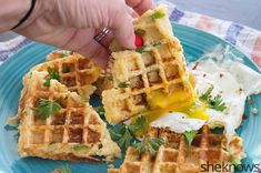 mashed potato cheddar waffles - perfect breakfast for dinner!