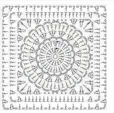 Transcendent Crochet a Solid Granny Square Ideas. Inconceivable Crochet a Solid Granny Square Ideas. Motif Mandala Crochet, Crochet Shawl Diagram, Crochet Poncho Patterns, Crochet Blocks, Granny Square Crochet Pattern, Crochet Chart, Crochet Squares, Crochet Granny, Filet Crochet